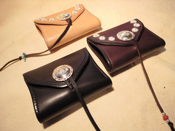 Saddle Leather・wallet/Concho custum