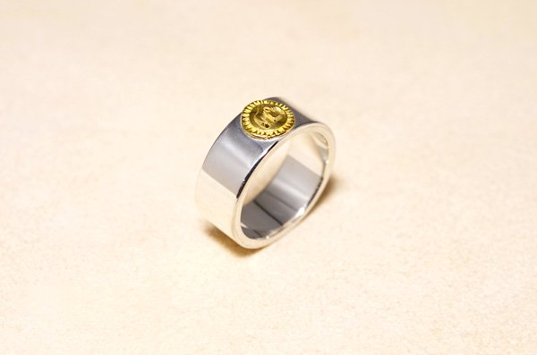 plain 18K/925 ring 8mm
