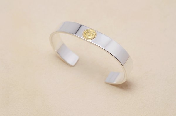 plain 18K/925 bangle 10mm