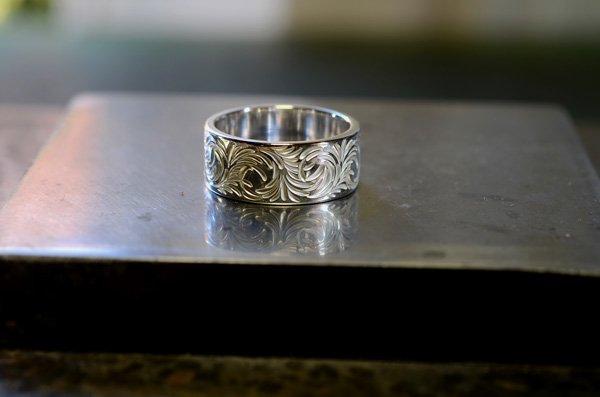 arabesque design ring 10mm