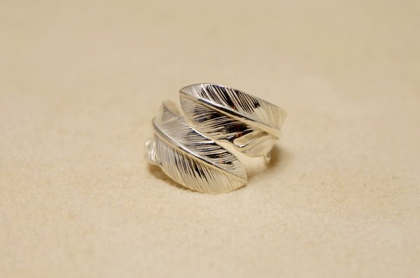small size feather ring 925
