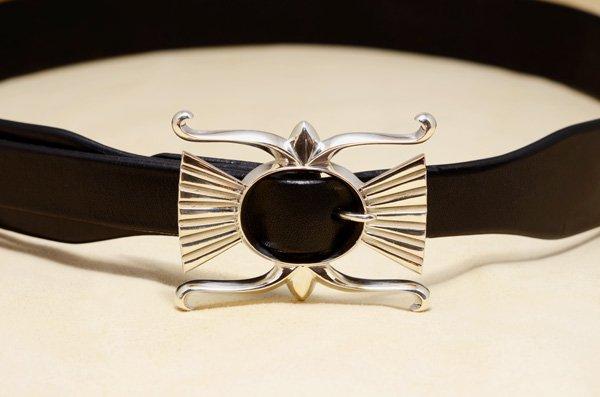 designed buckles nb-01/saddle leather belt 35mm