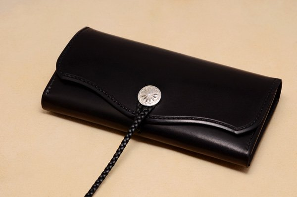 Saddle Leather・Long wallet-sdlw-02/Black