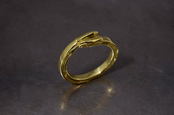 double eagleface Ring /K18