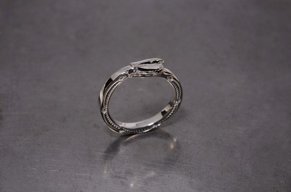 double eagleface pinke ring /925 silver