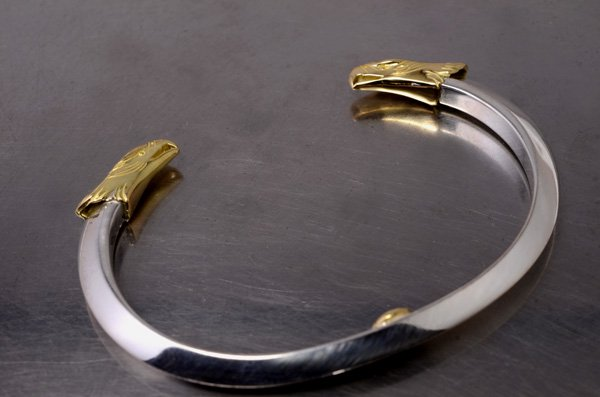 eagle face/triangle・bangle 18K