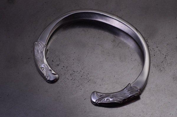 eagle face bangle 925 silver