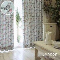 サイズ豊富な3級遮光の可愛い子供部屋カーテン 【リンドン ライトブルー】