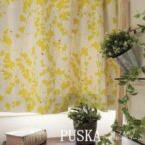 ●数量限定●北欧デザイン・激安・2級遮光カーテン <puska - プスカ イエローグリーン>