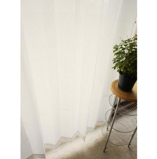 【グレーシアシリーズ】100サイズある 夜も外から透けにくいレースカーテン ナチュレ オフホワイト