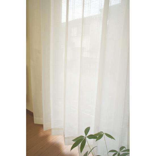 サイズ豊富 昼・夜外から透けにくいレースカーテン 【レーベル】