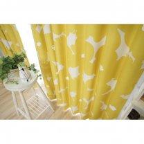 <北欧調>100サイズ・遮光2級・北欧デザインカーテン <テュット イエロー>