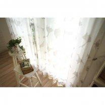 <北欧調>100サイズ・遮熱・遮像・北欧デザインカーテン <シャイニーベール テュット ペアレースカーテン>