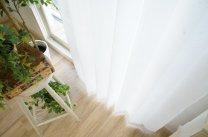 100サイズ 防炎・遮熱・遮像・UVカットレースカーテン <エアリーフ シフォン ナチュラル>