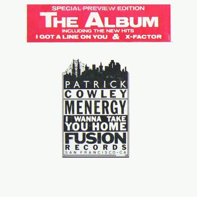 PATRICK COWLEY / Fusion Presents THE ALBUM: Menergy