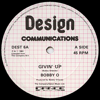 BOBBY O - Givin' Up (c/w) I Cry For You