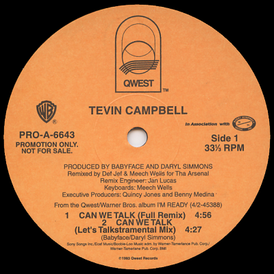 TEVIN CAMPBELL - Can We Talk (Remix)