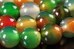 透明度抜群☆カラフルな孔雀色☆色の混ざりが美しい☆孔雀瑪瑙ビーズ1連8mm