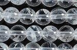 ★激安天然石ビーズ1連★クラック、インクルージョンが目立つが、天然の証★天然水晶 ビーズ1連★Bグレード 6mm