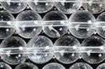★激安天然石ビーズ1連★激安★クラック、インクルージョンが目立つが、天然の証★天然水晶 ビーズ1連★Bグレード 8mm