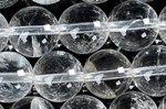 ★激安天然石ビーズ1連★激安★クラック、インクルージョンが目立つが、天然の証★天然水晶 ビーズ1連★Bグレード 10mm