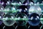 【天然石ビーズ1連 ラウンド】完売再入荷☆各種サイズ☆フローライトビーズ1連8mm
