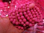 【リクエスト】ナチュラルカラー☆明るいピンク☆アメリカ産ロードナイト粒ブレスレット180円/g☆興味がある方リクエストしてください。リクエスト5件以上で入荷します。