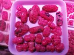 【リクエスト】ナチュラルカラー☆明るいピンク☆アメリカ産ロードナイト彫刻パーツ1400円/g☆興味がある方リクエストしてください。リクエスト5件以上で入荷します。