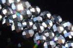 ◆激安◆1連980円 機能性素材〇テラヘルツ鉱石ビーズ1連〇32面カット4mm