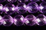 【極上品質天然石ビーズ1連】スーパークリア☆中間色☆カットも美しい☆アメジスト(紫水晶)64面カットビーズ6mm