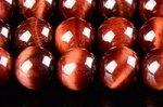 【天然石ビーズ1連】◇高温加熱処理◇レッドタイガーアイビーズ6mm