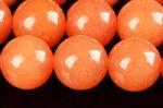 【天然石ビーズ連】レッドアベンチュリン丸玉ビーズ8mm 約38cm