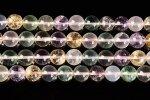 【五行水晶代替品】水晶/アメジスト/シトリン/ローズクォーツ/フローライト丸玉ビーズ10mm