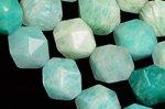天然石ダイヤモンドカットビーズシリーズ☆キラキラカット☆天然石ビーズ☆アマゾナイト 約8mm-8