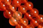 【天然石ビーズ1連】【ナチュラルカラー】天然 カーネリアン 丸玉ビーズ8mm