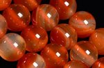 【天然石ビーズ1連】【ナチュラルカラー】天然 カーネリアン 丸玉ビーズ10mm