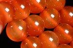 【天然石ビーズ1連】【ナチュラルカラー】天然 カーネリアン 丸玉ビーズ12mm