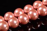 ピンクヘマタイト(磁性あり、染め)丸玉ビーズ6mm