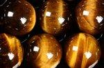 【定番超激安ビーズ連】1連が激安◆品質もなかなか良し◆タイガーアイイーズ連12mm-13