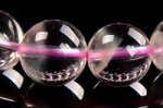 【極レアで大人気天然石】【透明な水晶+薄っすらしたピンクファントム】【一部の玉にクォーツインクォーツ】ピンクファントムクォーツブレスレット11mm-30