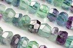 【小サイズ☆カット☆天然石ビーズ】フローライト★ロンデル型★カットビーズ連4*7mm(マルチカラー)