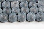 「泗浜浮石」ベンセキ(ベン石)丸玉ビーズ6mm (若干白い線付き/オイル処理無しの素面タイプ)