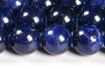 【極上品質天然石ビーズ連】【ディープカラー】【青み抜群】【色が均一的】ソーダライトビーズ連 8mm