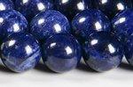 【極上品質天然石ビーズ連】【ディープカラー】【青み抜群】【色が均一的】ソーダライトビーズ連 10mm