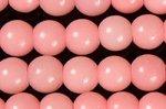【完売再入荷】【以前より大幅に値下げ】【鑑別済み】【可愛いピンクカラー】ピンクタルク(ソープストーン)ビーズ連6mm