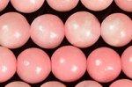【完売再入荷】【以前より大幅に値下げ】【鑑別済み】【可愛いピンクカラー】ピンクタルク(ソープストーン)ビーズ連8mm