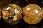 【店長一押し天然石】★タイチンは最高の財運石★【ヘマタイトと金色のタイチンとの相乗効果】【スモーキークォーツベースで激安に】ヘマタイト付きタイチンルチルクォーツブレスレット11mm-12