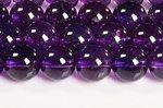 【天然石ビーズ連】【紫水晶】【2月誕生石】アメジストビーズ連8mm-1(ディープカラー/高品質/透明度中)