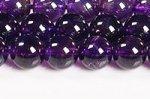 【天然石ビーズ連】【紫水晶】【2月誕生石】アメジストビーズ連8mm-2(ディープカラー/高品質/透明度中)