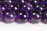 【天然石ビーズ連】【紫水晶】【2月誕生石】アメジストビーズ連8mm-3(ディープカラー/格安/透明度中)